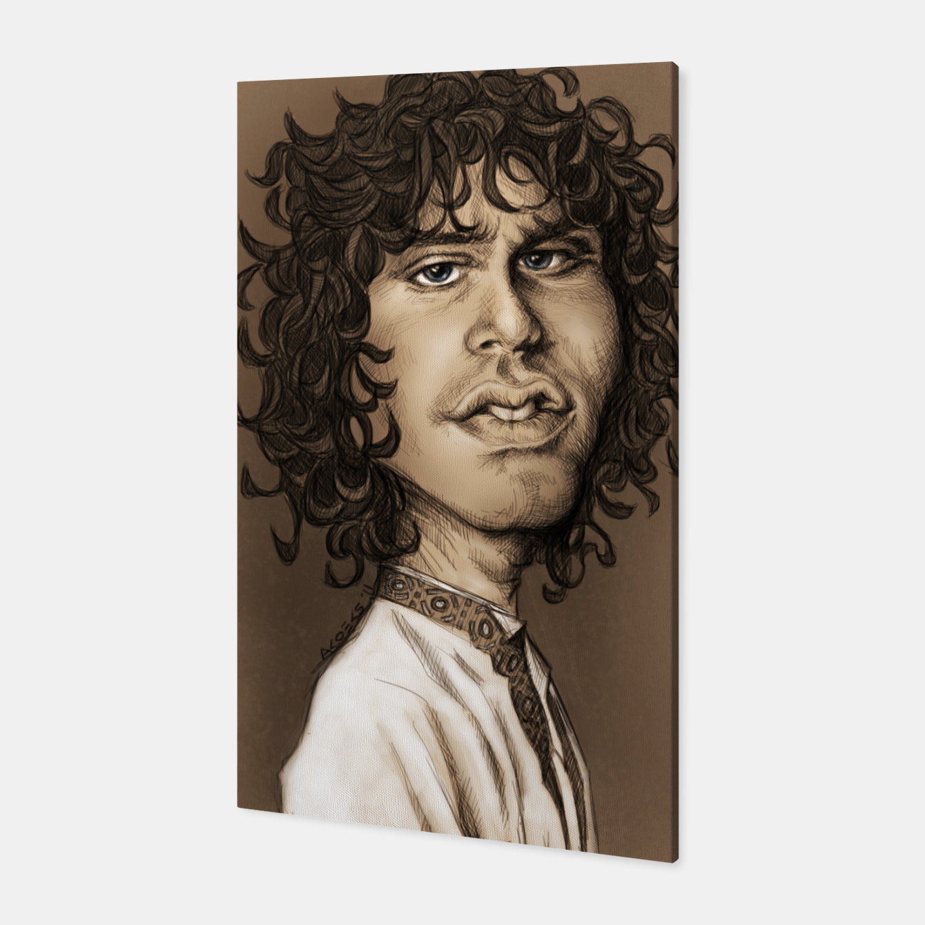 Image of Jim Morrison Canvas - Live Heroes