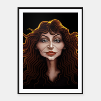 Thumbnail image of Kate Bush Framed poster, Live Heroes