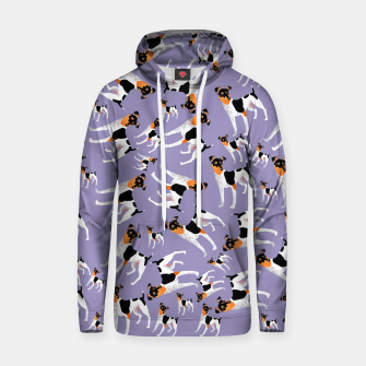 Thumbnail image of Japanese Terrier lavander pattern Sudadera con capucha de algodón, Live Heroes