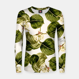Thumbnail image of Botany Leaf Pattern Woman cotton sweater, Live Heroes