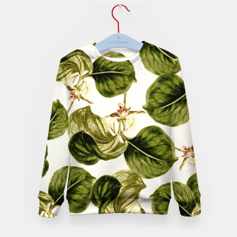 Thumbnail image of Botany Leaf Pattern Kid's sweater, Live Heroes