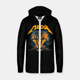 Thumbnail image of Meow Cotton zip up hoodie, Live Heroes