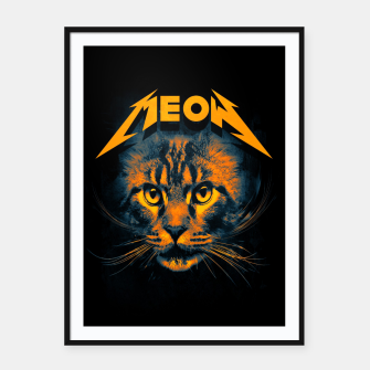 Thumbnail image of Meow Framed poster, Live Heroes