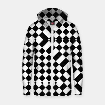 Thumbnail image of Illusion Blocks Cotton zip up hoodie, Live Heroes