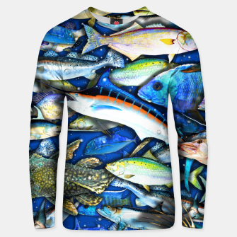 Thumbnail image of DEEP SALTWATER FISHING COLLAGE Sudadera de algodón, Live Heroes