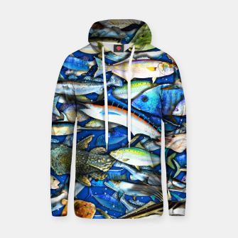 Thumbnail image of DEEP SALTWATER FISHING COLLAGE Sudadera con capucha de algodón, Live Heroes