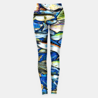 Thumbnail image of DEEP SALTWATER FISHING COLLAGE Leggings, Live Heroes