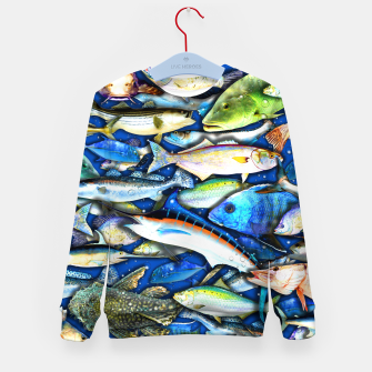Thumbnail image of DEEP SALTWATER FISHING COLLAGE Sudadera para niños, Live Heroes