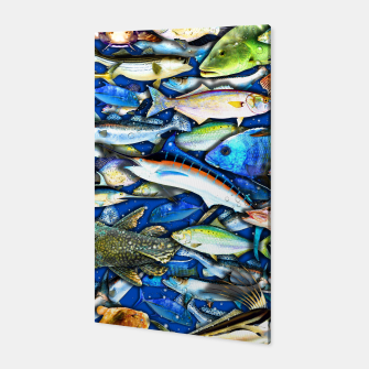 Thumbnail image of DEEP SALTWATER FISHING COLLAGE Canvas, Live Heroes