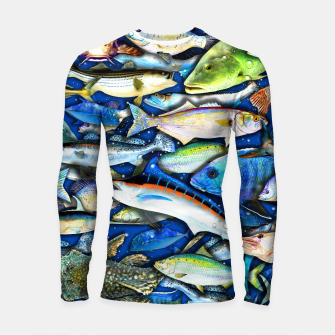 Thumbnail image of DEEP SALTWATER FISHING COLLAGE Longsleeve rashguard, Live Heroes