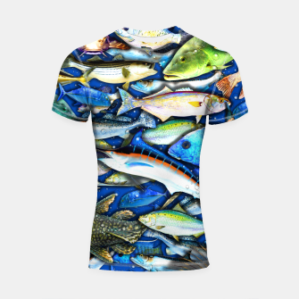 Thumbnail image of DEEP SALTWATER FISHING COLLAGE Shortsleeve rashguard, Live Heroes