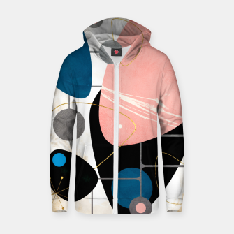 Thumbnail image of Mid Century Pebbles Cotton zip up hoodie, Live Heroes