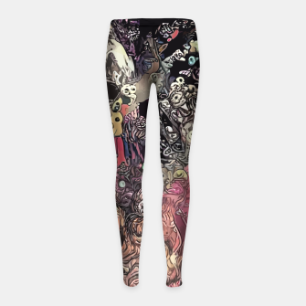 Thumbnail image of Twisted Realms Girl's leggings, Live Heroes