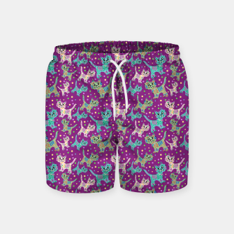 Thumbnail image of  Funny cats Swim Shorts, Live Heroes