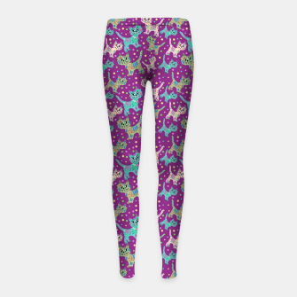 Thumbnail image of  Funny cats Girl's leggings, Live Heroes