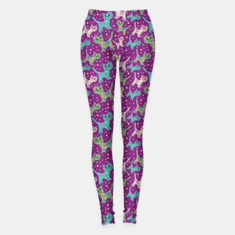 Thumbnail image of  Funny cats Leggings, Live Heroes