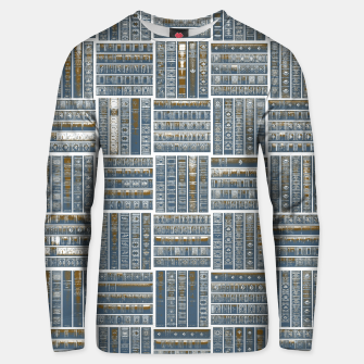 Thumbnail image of The Bookish Checkerboard Cotton sweater, Live Heroes