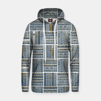 Thumbnail image of The Bookish Checkerboard Cotton hoodie, Live Heroes
