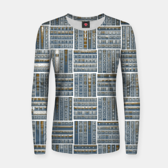 Thumbnail image of The Bookish Checkerboard Woman cotton sweater, Live Heroes