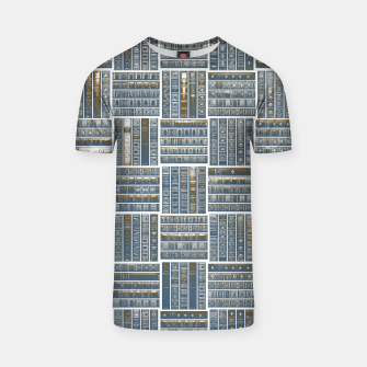Thumbnail image of The Bookish Checkerboard T-shirt, Live Heroes