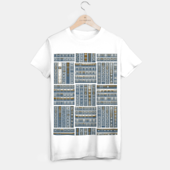 Thumbnail image of The Bookish Checkerboard T-shirt regular, Live Heroes