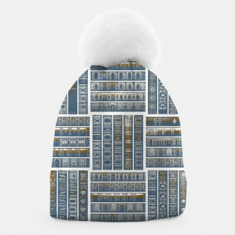 Thumbnail image of The Bookish Checkerboard Beanie, Live Heroes