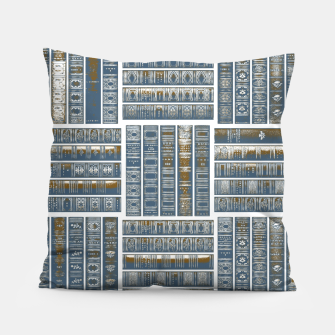 Thumbnail image of The Bookish Checkerboard Pillow, Live Heroes