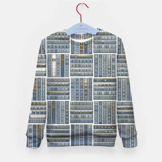 Thumbnail image of The Bookish Checkerboard Kid's sweater, Live Heroes