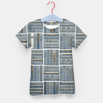 Thumbnail image of The Bookish Checkerboard Kid's t-shirt, Live Heroes