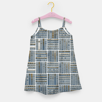 Thumbnail image of The Bookish Checkerboard Girl's dress, Live Heroes