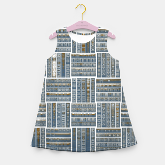 Thumbnail image of The Bookish Checkerboard Girl's summer dress, Live Heroes