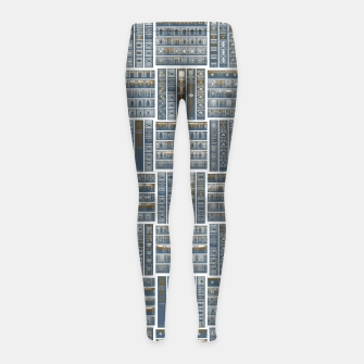 Thumbnail image of The Bookish Checkerboard Girl's leggings, Live Heroes