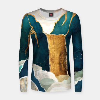 Thumbnail image of Golden Waterfall Woman cotton sweater, Live Heroes