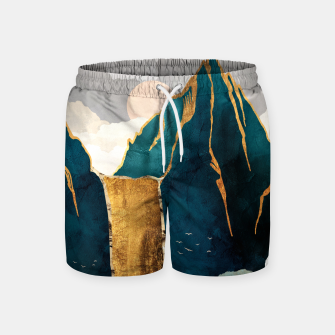 Thumbnail image of Golden Waterfall Swim Shorts, Live Heroes