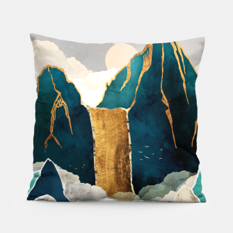Thumbnail image of Golden Waterfall Pillow, Live Heroes