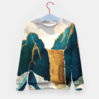 Thumbnail image of Golden Waterfall Kid's sweater, Live Heroes