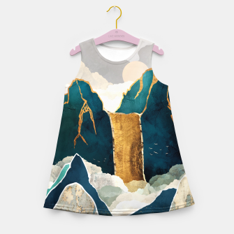 Thumbnail image of Golden Waterfall Girl's summer dress, Live Heroes