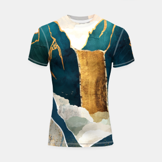 Thumbnail image of Golden Waterfall Shortsleeve rashguard, Live Heroes