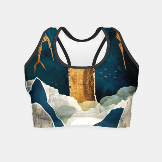 Thumbnail image of Golden Waterfall Crop Top, Live Heroes