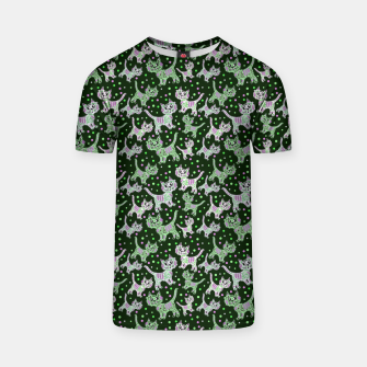 Thumbnail image of Funny cats green T-shirt, Live Heroes