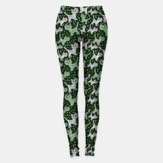 Thumbnail image of Funny cats green Leggings, Live Heroes