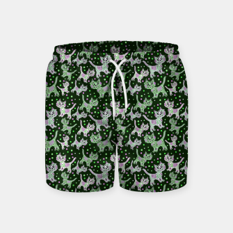 Thumbnail image of Funny cats green Swim Shorts, Live Heroes