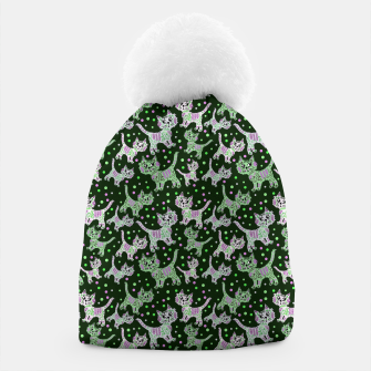 Thumbnail image of Funny cats green Beanie, Live Heroes