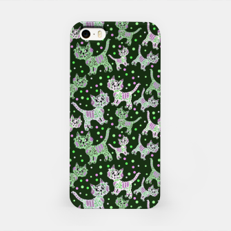 Thumbnail image of Funny cats green iPhone Case, Live Heroes