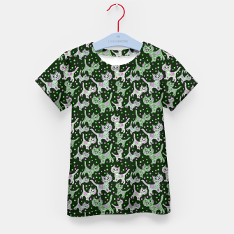 Thumbnail image of Funny cats green Kid's t-shirt, Live Heroes