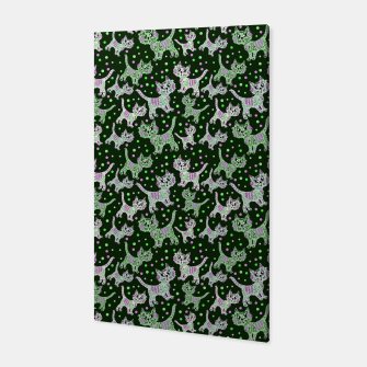 Thumbnail image of Funny cats green Canvas, Live Heroes