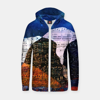 The Hills are Alive With the Sound of Music Cotton zip up hoodie Bild der Miniatur