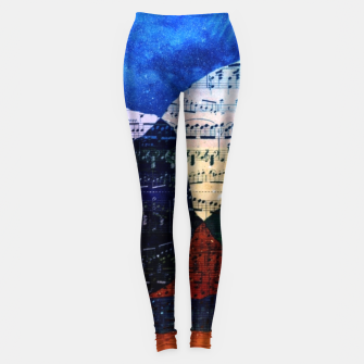 The Hills are Alive With the Sound of Music Leggings Bild der Miniatur