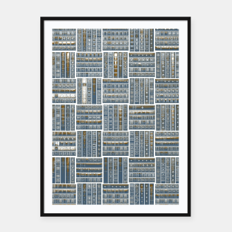 Thumbnail image of The Bookish Checkerboard Framed poster, Live Heroes