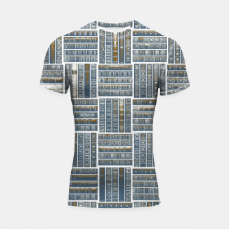 Thumbnail image of The Bookish Checkerboard Shortsleeve rashguard, Live Heroes